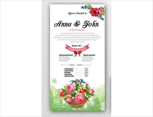 Lunch Reception Wedding Invitation