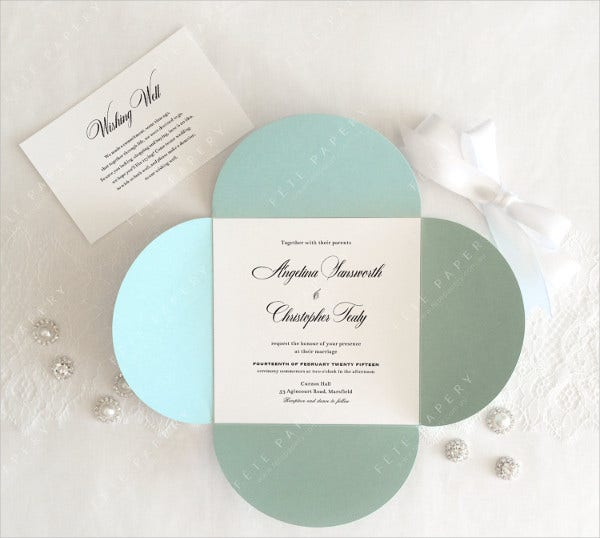 Square Pocket Wedding Invitations