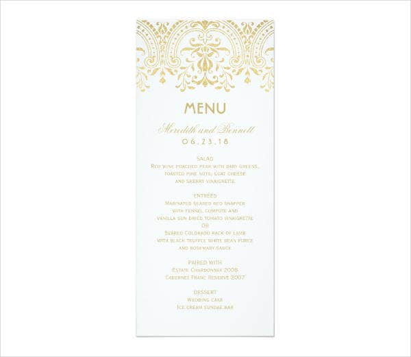 Dinner Reception Wedding Invitation