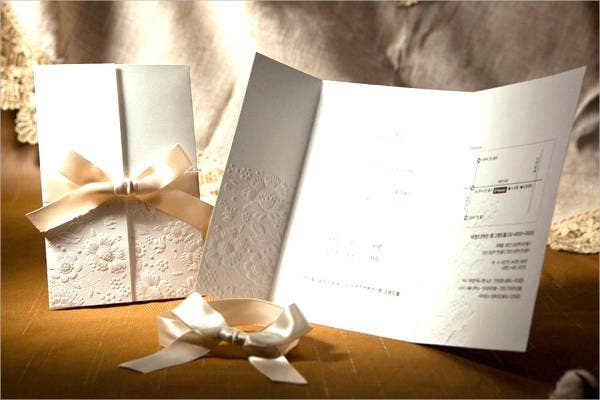 Blank Ivory Wedding Invitation