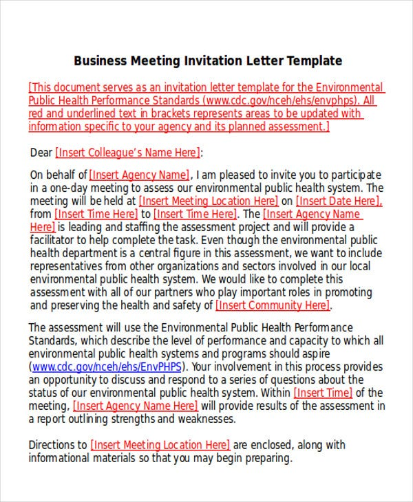 9  business e-mail invitation templates