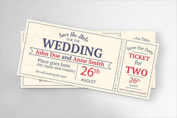 Event Ticket Wedding Invitations