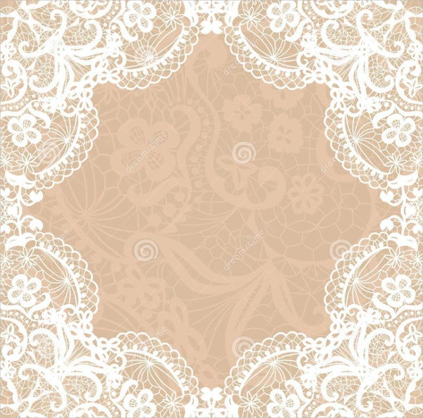 Blank Lace Wedding Invitations