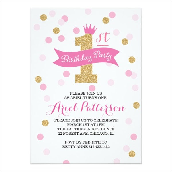 princess-1st-birthday-invitation