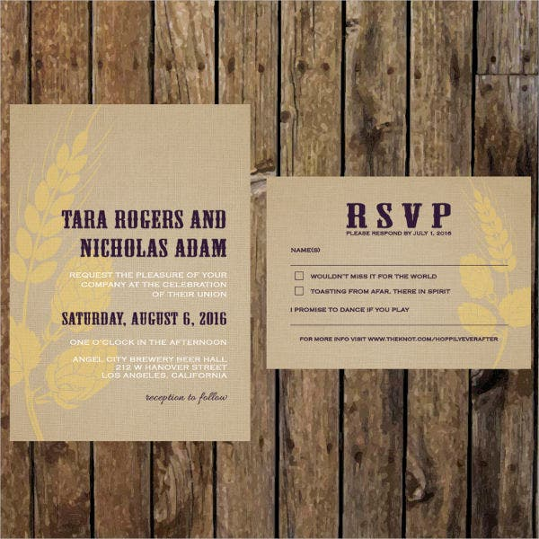 Diy Burlap Wedding Invitations