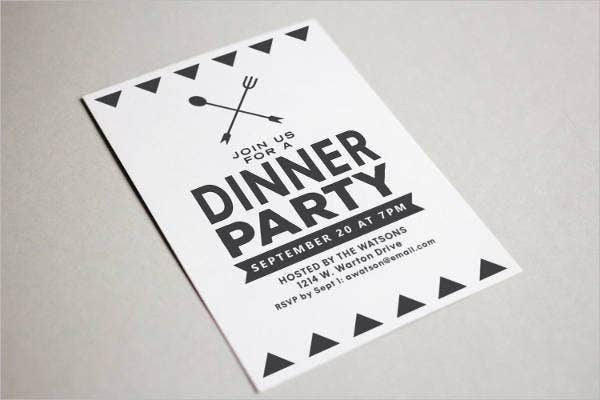 formal corporate dinner invitation