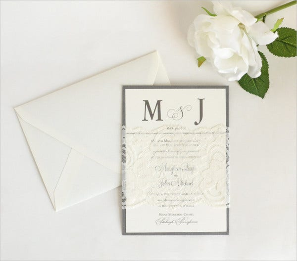 Handmade Lace Wedding Invitations