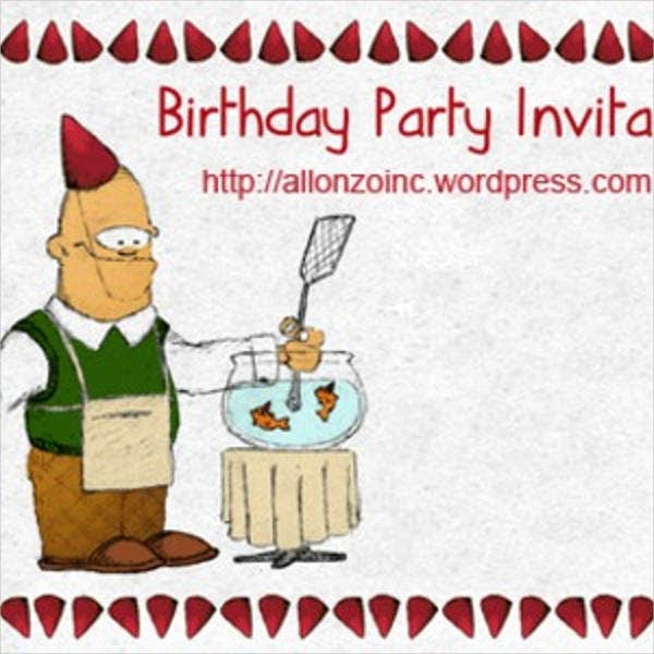 funny birthday invitation card