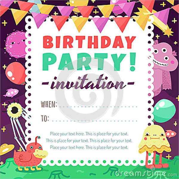 funny kids birthday invitation