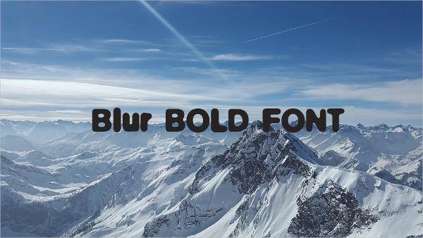 Blur Bold Font