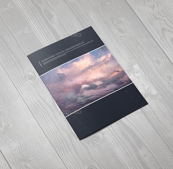 a4 brochure catalogue magazine mockup