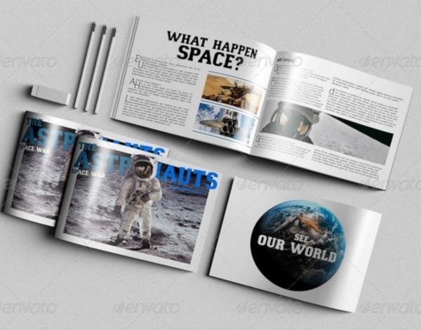 a4 horizontal brochure mockups