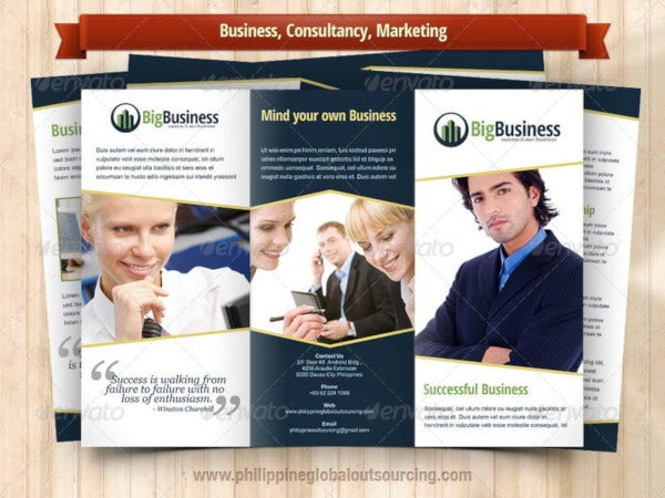 a4 trifold brochure template