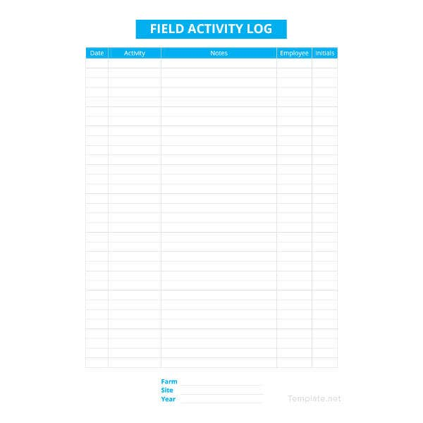 activity log template1