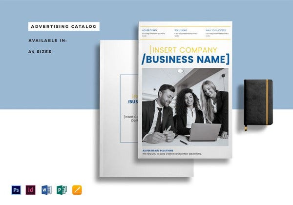 advertising catalog template in psd format