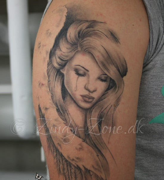 angel sleeve tattoo1