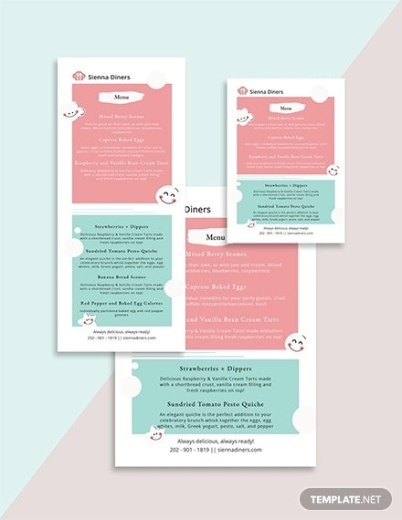 Baby Shower Menu Template1 Details File Format