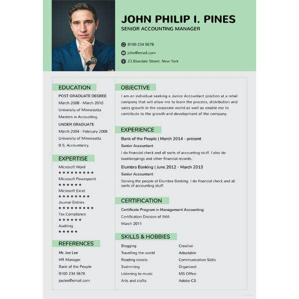 banking resume for experienced template1