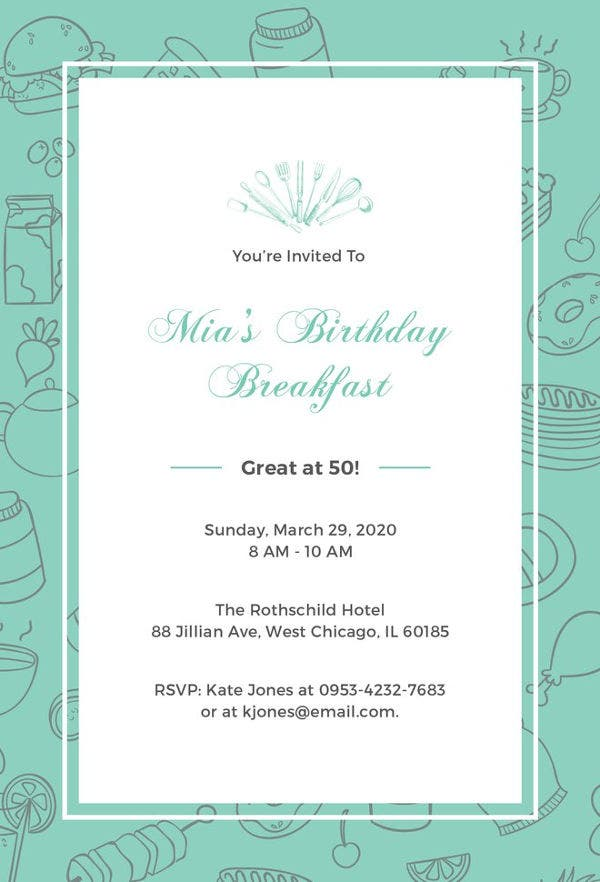 free printable birthday invitation template