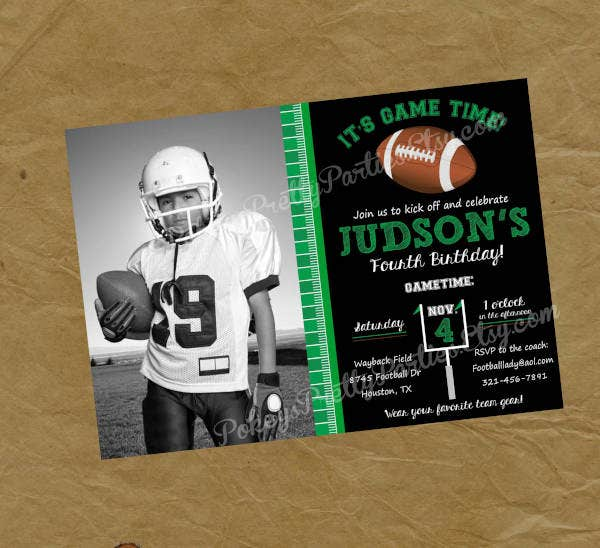 birthday football invitation1