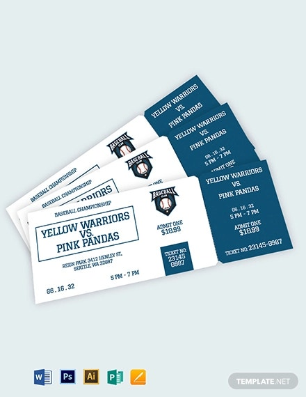 blank baseball ticket template1