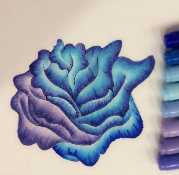 blue rose painting1