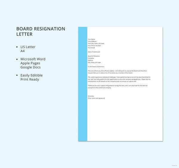 board-resignation-letter-template