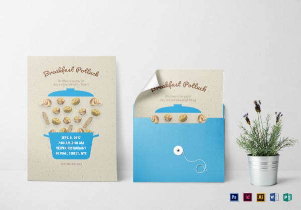 breakfast potluck invitation template2