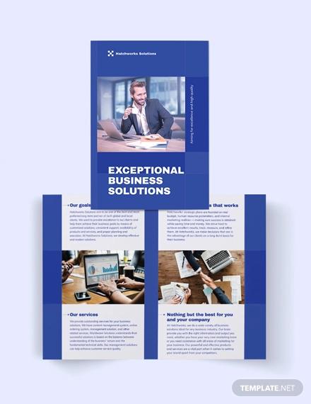 business company bi fold brochure template