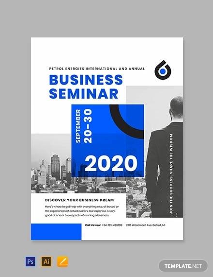 business seminar poster template