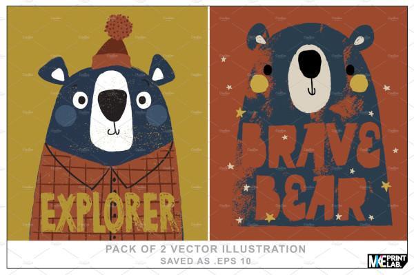cute bear illustrations