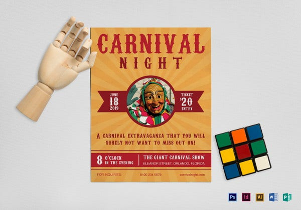 carnival-night-flyer-template