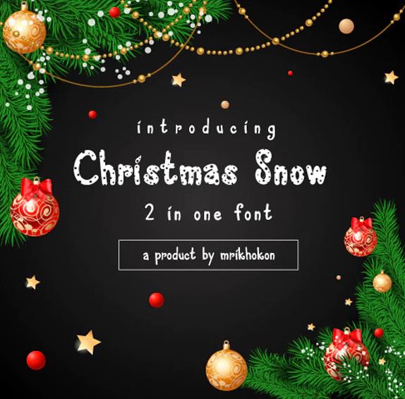christmas snow font2