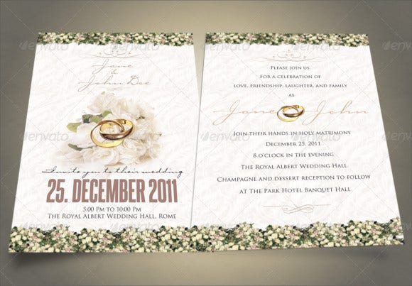classy wedding event party invitation