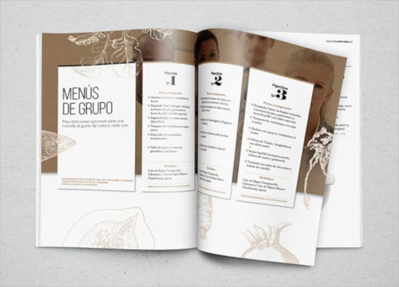 company catering brochure