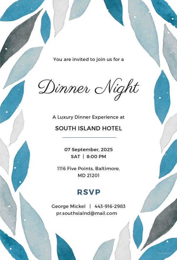 50  printable dinner invitation templates