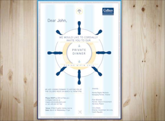 conference dinner invite design template