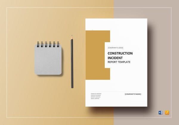 construction incident report word template