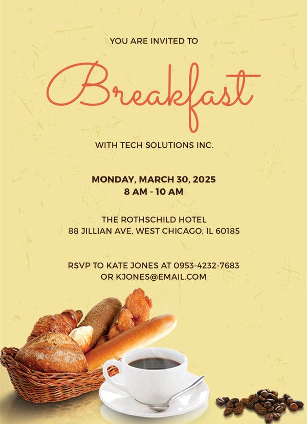 corporate-company-breakfast-invitation-template