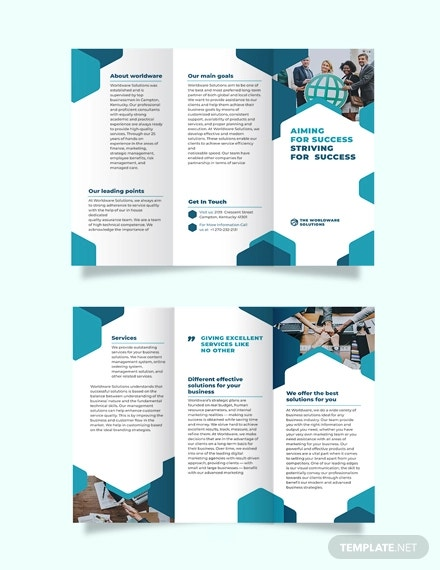 corporate company tri fold brochure template