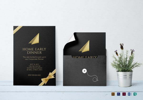 corporate dinner invitation template1