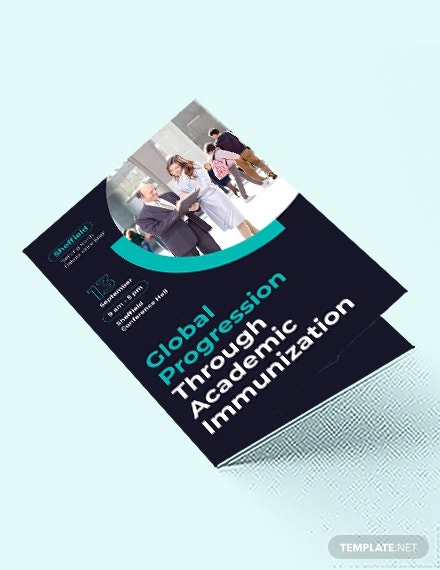 corporate event bi fold brochure template