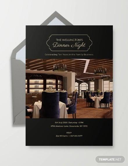 corporate invitation card template2