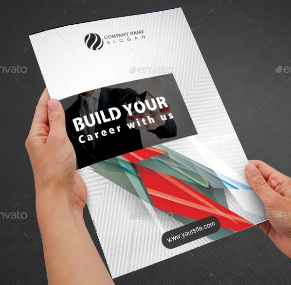 corporate real estate bi fold brochure template