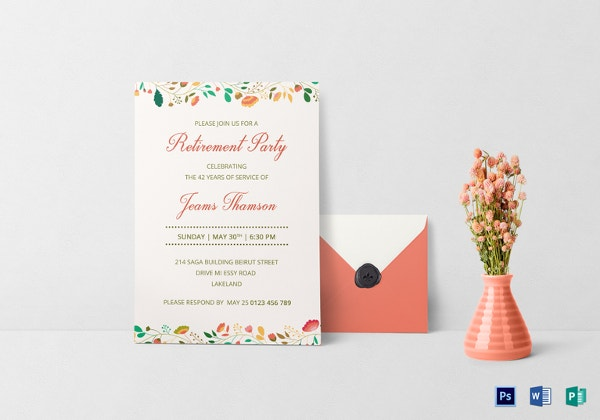corporate retirement party invitation template