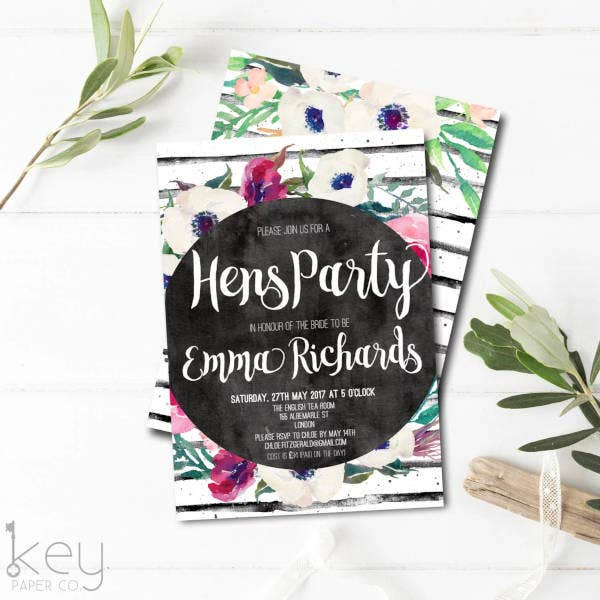 diy hen party invitation2