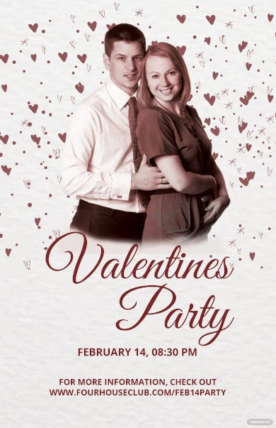 dj party valentine poster