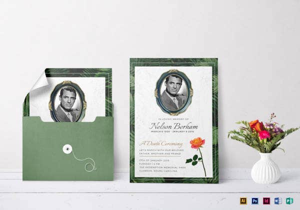 death ceremony invitation template1