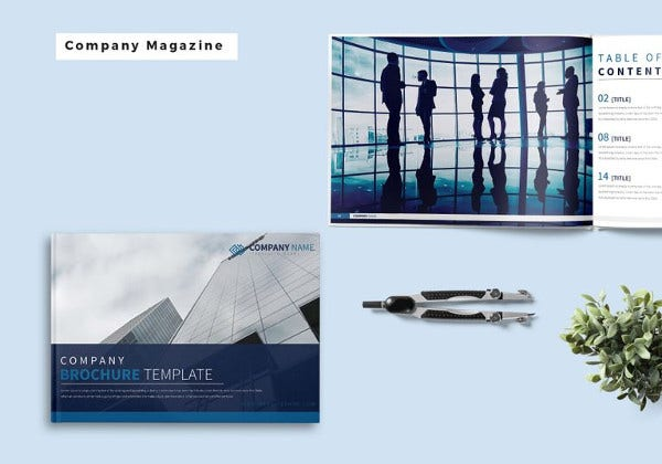 easy to edit company magazine template