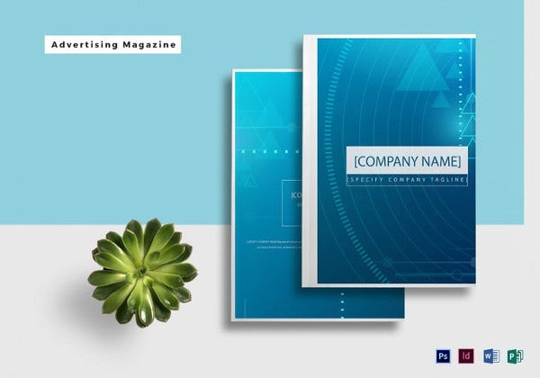 easy to print advertising magazine template